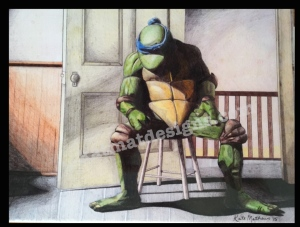 #tmnt #drawing #leonardo #colored pencil