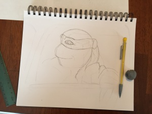 Donatello early sketch