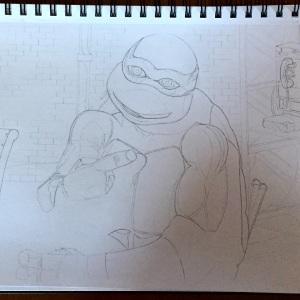 Michelangelo Drawing Progress