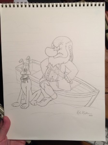 Grumpy Pirate pencilled
