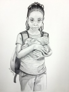 Girl Holding Food